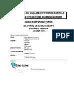 Eco-Aménagement _guide Opérationnel SETUR2006 AEU & Fiches Actions