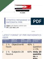 1.Strategi Menjawab Soalan Matematik Pmr 2012