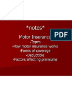 Motor Ins Notes