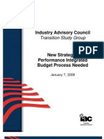 New Strategic Performance Integrated Budget Process Needed