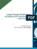 HuronHealthcare 2011 CEOFORUM Report