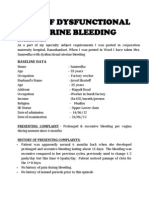 Dysfunctional Uterine Bleeding History Collection