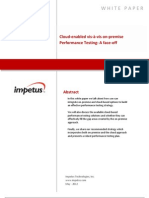 Cloud-enabled vis-à-vis on-premise Performance Testing- Impetus White Paper