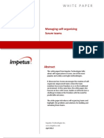 Managing Self-organizing SCRUM Teams- Impetus White Paper