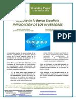 Rescate de la Banca Española. IMPLICACION DE LOS INVERSORES (Es) Spanish Banks Bailout. INVESTORS BURDEN SHARING (Es) Espainiako Bankuen Erreskatea. HARTZEKODUNEN INPLIKAZIOA (Es)
