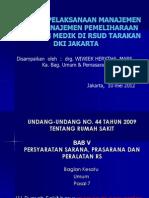 7. Program Pelaksanaan Manajemen Aset & Manajemen Pemeliharaan Peralatan Medik