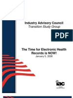 The Time for Electronic Health Care Records is Now!
