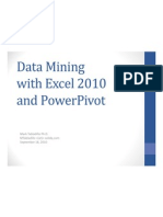Data Mining With Excel 2010 and PowerPivot