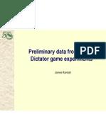 Preliminary data from Bohol