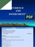 SESI 5 SP Evidence & Instruments