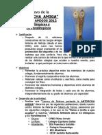 Objetivos Relevo La Antorcha Amiga 2012