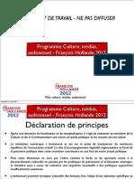 Programme FH 2012 Culture