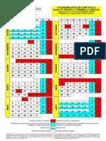 CALENDARIO ESCOLAR 2012-2013