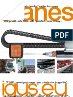 E-chainsystems and chainflex cables for cranes