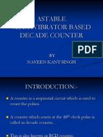 Astable Multivibrator Based Decade Counter