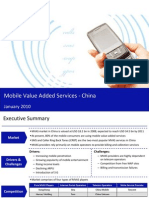 Market Research China - Mobile Value Added Services in China 2009