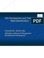 KSA Development and Training Need Identification Presentation