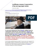 La justice israélienne renonce à poursuivre les auteurs d'un ouvrage jugé raciste