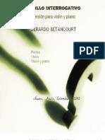 PASILLO INTERROGATIVO. Versiòn para violìn y piano.