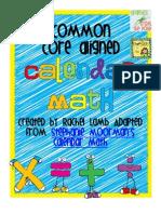 Calendar Math Ws