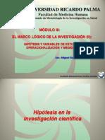 Curso de investigación científica en salud - Módulo III