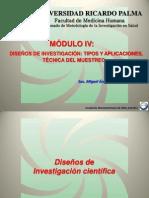 Curso de investigación científica en salud - Módulo IV