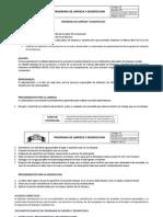 Programa de Limpieza y Desinfeccion (Faf)