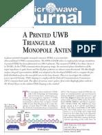 Printed UWB Triangular Monopole Antenna
