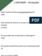 Certificação SAP - Anotações Aula
