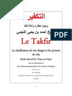 Le Takfir Et La Clarification de Son Danger Et Les Preuves de Cela (shaykh an Najmî)