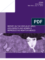 Shadow Report on the Status of Reproductive Rights of Girls Adolescents and Women in Mexico
