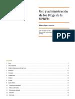 Manual Blogs de la UPNFM (Versión Resumida)