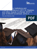Postsecondary Institutions and Price of Attendance in 2011-12; Degrees and Other Awards Conferred