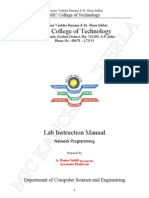 Jntuk 4 1 Cse Network Programming Lab Manual
