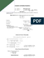 Formulario Analisis Numerico