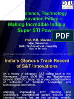 STI Policy - Prof. P.B. Sharma