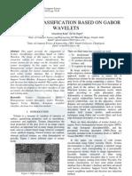 Texture Classification based on Gabor Wavelet