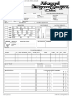 AD&D 2nd edition character sheet by Synaptyx