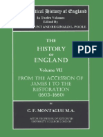 The Political History of England. Vol 7 Montague, F.C. (Vol. VII. 1603 to 1660) From Rhe Accession of James I to the Restoration
