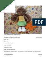 Basic Crochet Doll Tank Top