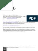 Foundations of European Legal Culture