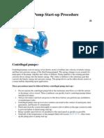 Pump Starup Procedure
