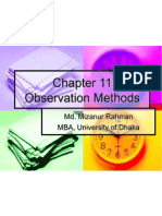 BR - Chapter 11 Observation Methods