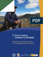 El Clima Cambia, Cambia Tú También - Brochure Perú