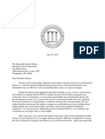 Virginia Gov. Bob McDonnell's letter to President Obama on Medicaid expansion