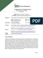 Project Management Syllabus