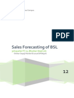 Sales Forecast for Bhushan Steel Limited