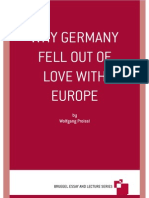 Why Germany Fell Out of Love With Europe