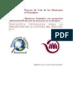 Reporte Ejecutivo Monitoreo Ciudadano con perspectiva Binacional