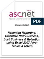 Retention Reporting- Calculate New Business Lost Business Retention Using Excel 2007 Macro